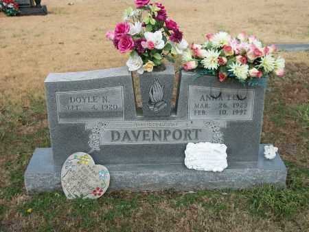 DAVENPORT, ANNA LEA - Marion County, Arkansas   ANNA LEA DAVENPORT - Arkansas Gravestone Photos