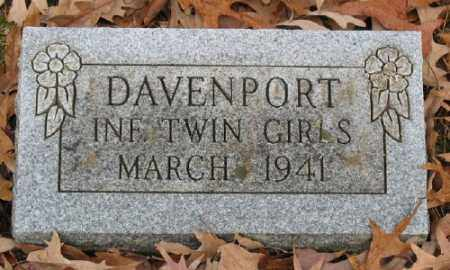 DAVENPORT, INFANT TWIN GIRLS - Marion County, Arkansas | INFANT TWIN GIRLS DAVENPORT - Arkansas Gravestone Photos