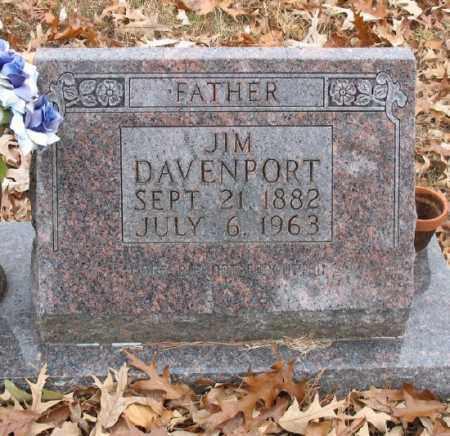 "DAVENPORT, JESSE JAMES ""JIM"" (CLOSE UP) - Marion County, Arkansas | JESSE JAMES ""JIM"" (CLOSE UP) DAVENPORT - Arkansas Gravestone Photos"