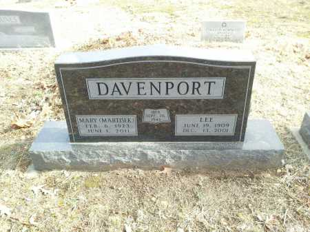 DAVENPORT, LEE - Marion County, Arkansas | LEE DAVENPORT - Arkansas Gravestone Photos