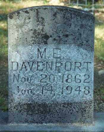DAVENPORT, MARY ELIZABETH - Marion County, Arkansas | MARY ELIZABETH DAVENPORT - Arkansas Gravestone Photos