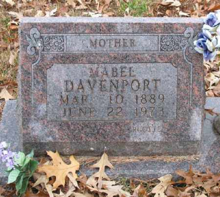 DAVENPORT, MABEL (CLOSE UP) - Marion County, Arkansas | MABEL (CLOSE UP) DAVENPORT - Arkansas Gravestone Photos