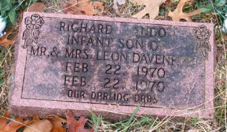 DAVENPORT, RICHARD LANDON - Marion County, Arkansas   RICHARD LANDON DAVENPORT - Arkansas Gravestone Photos
