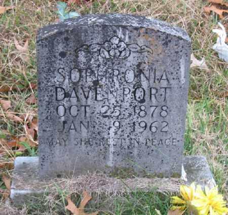 DAVENPORT, SOPHRONIA JANE - Marion County, Arkansas | SOPHRONIA JANE DAVENPORT - Arkansas Gravestone Photos
