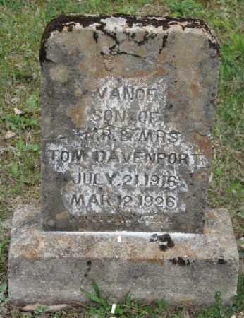 DAVENPORT, VANCE - Marion County, Arkansas | VANCE DAVENPORT - Arkansas Gravestone Photos