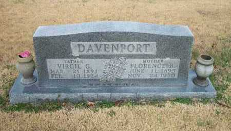 DAVENPORT, FLORENCE B. - Marion County, Arkansas   FLORENCE B. DAVENPORT - Arkansas Gravestone Photos