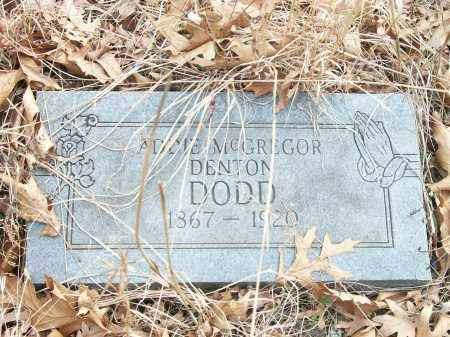MCGREGOR DENTON DODD, ADDIE - Marion County, Arkansas   ADDIE MCGREGOR DENTON DODD - Arkansas Gravestone Photos
