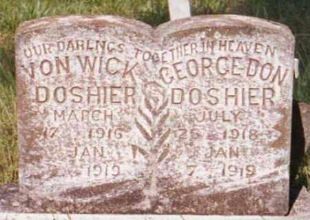 DOSHIER, GEORGE DON - Marion County, Arkansas | GEORGE DON DOSHIER - Arkansas Gravestone Photos
