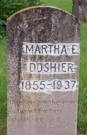 DOSHIER, MARTHA E. - Marion County, Arkansas | MARTHA E. DOSHIER - Arkansas Gravestone Photos