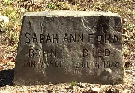 FORD, SARAH ANN - Marion County, Arkansas | SARAH ANN FORD - Arkansas Gravestone Photos