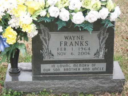 FRANKS, WAYNE - Marion County, Arkansas | WAYNE FRANKS - Arkansas Gravestone Photos