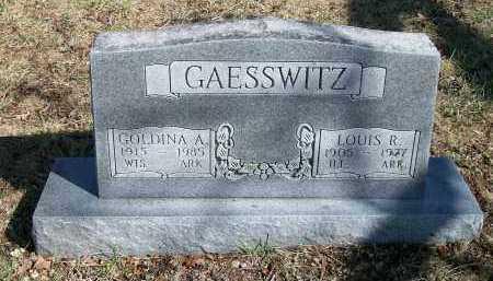 GAESSWITZ, LOUIS R - Marion County, Arkansas | LOUIS R GAESSWITZ - Arkansas Gravestone Photos