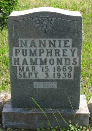 HAMMONDS, NANNIE - Marion County, Arkansas | NANNIE HAMMONDS - Arkansas Gravestone Photos