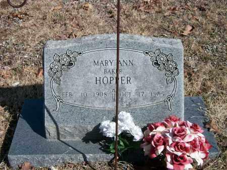 BAKER HOPPER, MARY ANN - Marion County, Arkansas | MARY ANN BAKER HOPPER - Arkansas Gravestone Photos