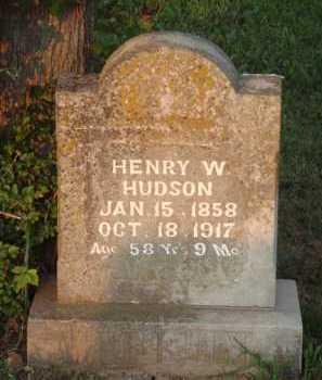 HUDSON, HENRY W. - Marion County, Arkansas | HENRY W. HUDSON - Arkansas Gravestone Photos