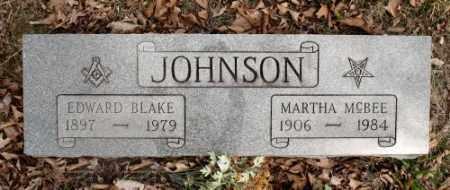 JOHNSON (VETERAN WWI), EDWARD BLAKE - Marion County, Arkansas | EDWARD BLAKE JOHNSON (VETERAN WWI) - Arkansas Gravestone Photos