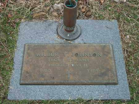 JOHNSON (VETERAN WWII), WILBUR T - Marion County, Arkansas   WILBUR T JOHNSON (VETERAN WWII) - Arkansas Gravestone Photos