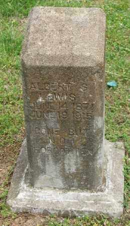 LEWIS, ALBERT S. (FOOTSTONE) - Marion County, Arkansas | ALBERT S. (FOOTSTONE) LEWIS - Arkansas Gravestone Photos