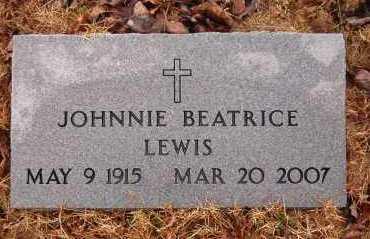 LEWIS, JOHNNIE BEATRICE - Marion County, Arkansas | JOHNNIE BEATRICE LEWIS - Arkansas Gravestone Photos