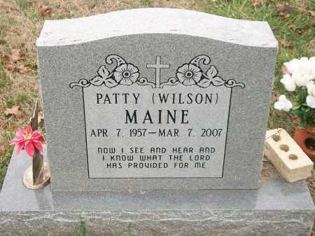 WILSON MAINE, PATTY - Marion County, Arkansas   PATTY WILSON MAINE - Arkansas Gravestone Photos