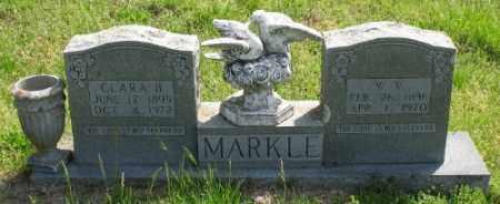 MARKLE, W. V. - Marion County, Arkansas | W. V. MARKLE - Arkansas Gravestone Photos