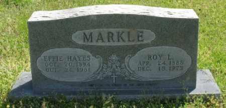 MARKLE, ROY L. - Marion County, Arkansas | ROY L. MARKLE - Arkansas Gravestone Photos