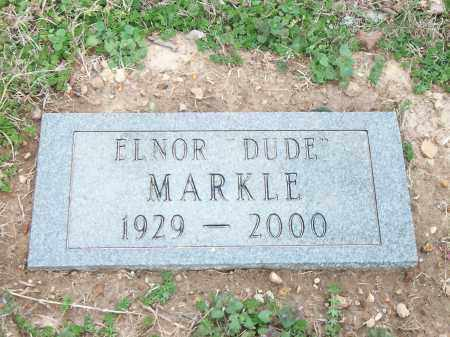 "MARKLE, ELNOR ""DUDE"" - Marion County, Arkansas 