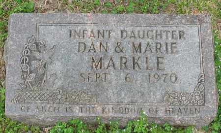 MARKLE, INFANT DAUGHTER - Marion County, Arkansas | INFANT DAUGHTER MARKLE - Arkansas Gravestone Photos