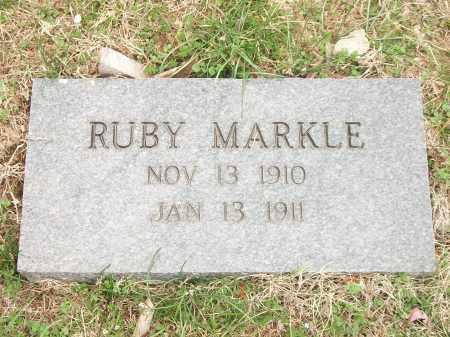 MARKLE, RUBY - Marion County, Arkansas | RUBY MARKLE - Arkansas Gravestone Photos