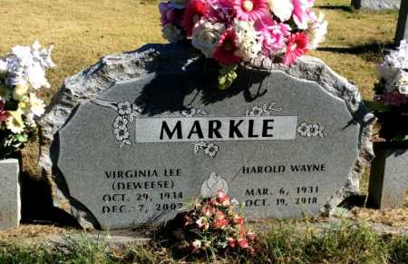 MARKLE, HAROLD WAYNE - Marion County, Arkansas | HAROLD WAYNE MARKLE - Arkansas Gravestone Photos
