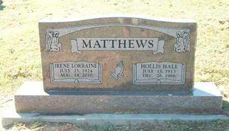 MATTHEWS, HOLLIS HALE - Marion County, Arkansas   HOLLIS HALE MATTHEWS - Arkansas Gravestone Photos