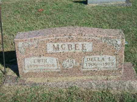 MCBEE, EWIN - Marion County, Arkansas | EWIN MCBEE - Arkansas Gravestone Photos