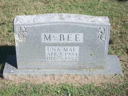 MCBEE, UNA MAE - Marion County, Arkansas   UNA MAE MCBEE - Arkansas Gravestone Photos