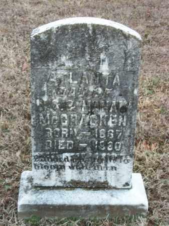 MCCRACKEN, ATLANTA - Marion County, Arkansas | ATLANTA MCCRACKEN - Arkansas Gravestone Photos
