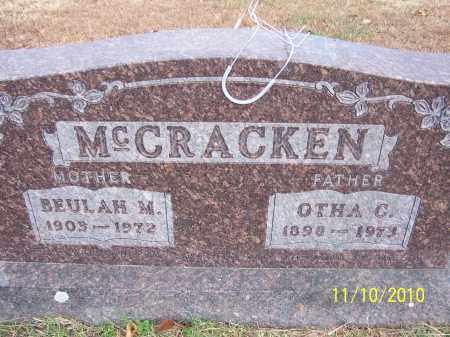 MCCRACKEN, OTHA CURTIS - Marion County, Arkansas   OTHA CURTIS MCCRACKEN - Arkansas Gravestone Photos