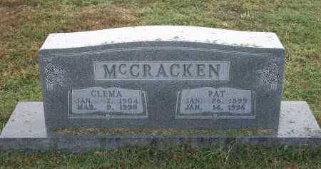 MCCRACKEN, CLEMA - Marion County, Arkansas | CLEMA MCCRACKEN - Arkansas Gravestone Photos