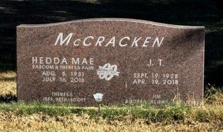 MCCRACKEN, J. T. - Marion County, Arkansas | J. T. MCCRACKEN - Arkansas Gravestone Photos