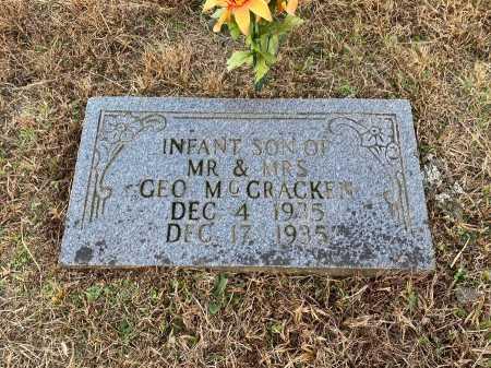 MCCRACKEN, INFANT SON - Marion County, Arkansas   INFANT SON MCCRACKEN - Arkansas Gravestone Photos