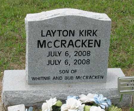MCCRACKEN, LAYTON KIRK - Marion County, Arkansas | LAYTON KIRK MCCRACKEN - Arkansas Gravestone Photos