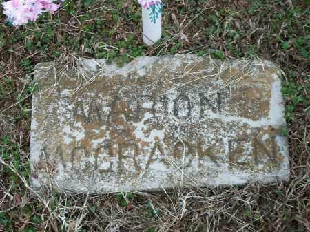 MCCRACKEN, MARION - Marion County, Arkansas | MARION MCCRACKEN - Arkansas Gravestone Photos