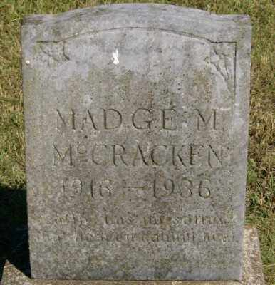 MCCRACKEN, MADGE M. - Marion County, Arkansas | MADGE M. MCCRACKEN - Arkansas Gravestone Photos