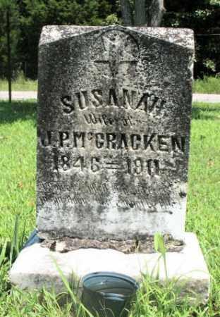 MCCRACKEN, SUSANAH - Marion County, Arkansas   SUSANAH MCCRACKEN - Arkansas Gravestone Photos