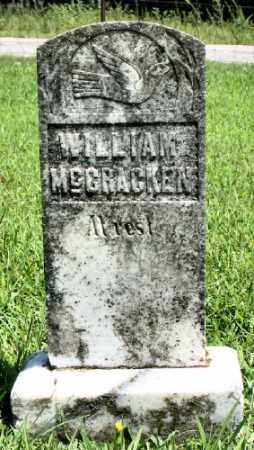 MCCRACKEN, WILLIAM - Marion County, Arkansas   WILLIAM MCCRACKEN - Arkansas Gravestone Photos