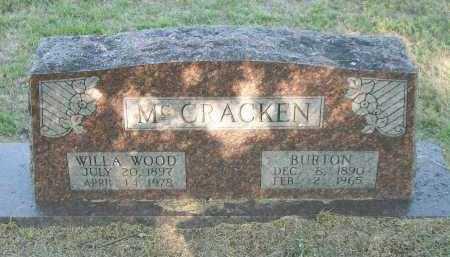 MCCRACKEN, BURTON - Marion County, Arkansas | BURTON MCCRACKEN - Arkansas Gravestone Photos