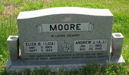 "MOORE, ANDREW J. ""A. J."" - Marion County, Arkansas | ANDREW J. ""A. J."" MOORE - Arkansas Gravestone Photos"