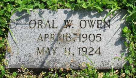 OWEN, ORAL W. - Marion County, Arkansas   ORAL W. OWEN - Arkansas Gravestone Photos