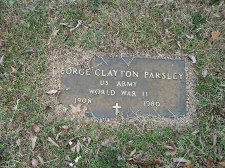 PARSLEY (VETERAN WWII), GEORGE CLAYTON - Marion County, Arkansas   GEORGE CLAYTON PARSLEY (VETERAN WWII) - Arkansas Gravestone Photos