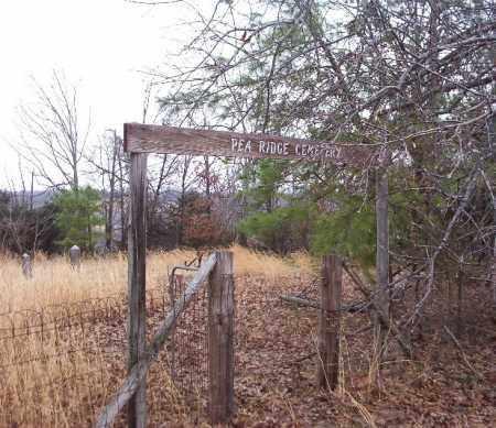 *PEA RIDGE CEMETERY SIGN,  - Marion County, Arkansas |  *PEA RIDGE CEMETERY SIGN - Arkansas Gravestone Photos
