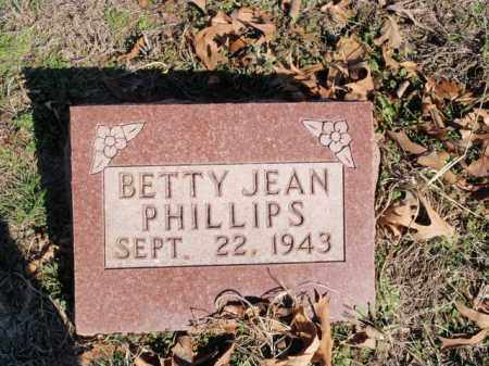 PHILLIPS, BETTY JEAN - Marion County, Arkansas | BETTY JEAN PHILLIPS - Arkansas Gravestone Photos