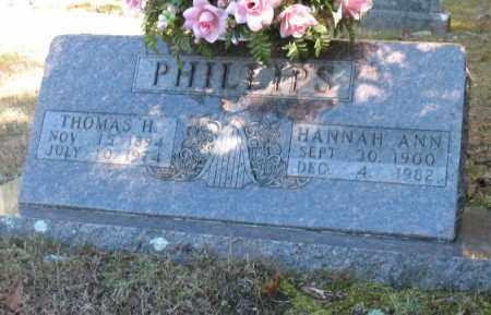 PHILLIPS, HANNAH ANN - Marion County, Arkansas | HANNAH ANN PHILLIPS - Arkansas Gravestone Photos